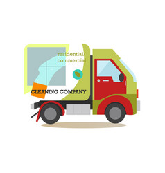 cleaning service car flat vector image