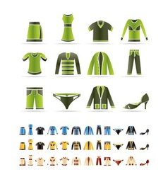 clothing icons - icon se vector image