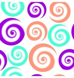 Colorful pattern of circles with swirls Abstract vector image