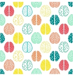 Colorful seamless brain pattern Scientific vector