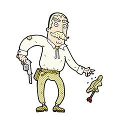 Comic cartoon wild west cowboy vector