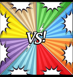 comic vs colorful concept vector image