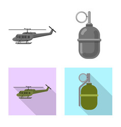 Design of weapon and gun symbol collection vector
