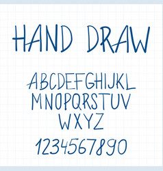 dynamic hand drawn brush pen uppercase font with vector image
