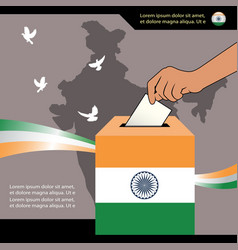 Election of india 2019 banner design vector