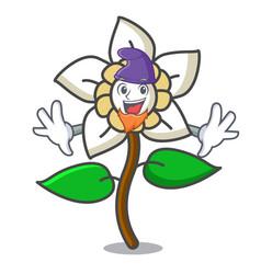 Elf jasmine flower character cartoon vector