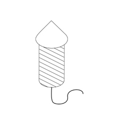 Firecracker icon isometric 3d style vector