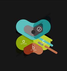 flat design geometric infographics arrow shape vector image