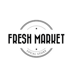 fresh local market stamp vector image