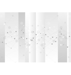 Grey abstract technology graph background vector