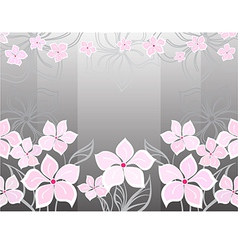 Grey flower background vector