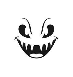 Halloween icon scary evil smile vector