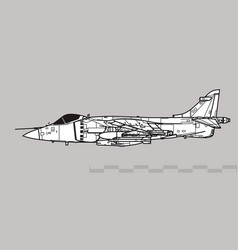 hawker siddeley sea harrier frs1 vector image