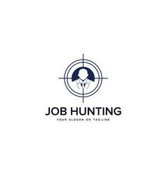 Job hunting design vector