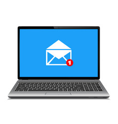 laptop computer with symbol of email receiving vector image