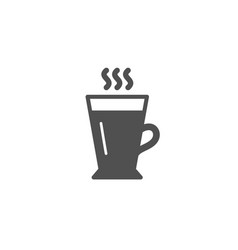 latte simple icon hot coffee or tea sign vector image