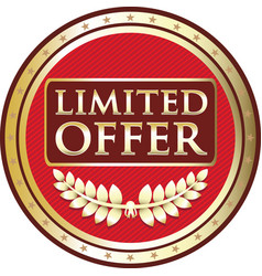limited offer red label vector image