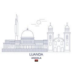Luanda city skyline vector