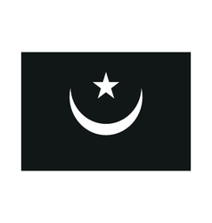 Mauritania flag isolated monochrome on white vector