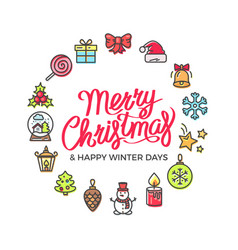 merry christmas happy days vector image