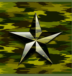 Military camouflage star vector