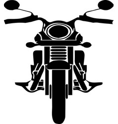 Motorcycle icon on white background vector