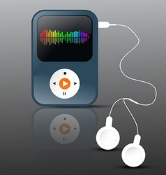 MP3 Player Abstract mp3 Player with Headphones and vector