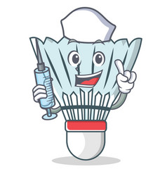 Nurse shuttlecock character cartoon vector