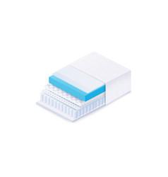 Orthopedic mattress layers material realistic vector