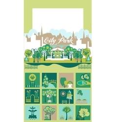 Park and Landscape Design Constructor Set vector image