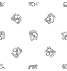 Paycheck paper pattern seamless vector