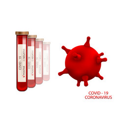 Positive result for covid-19 infection 2019-ncov vector