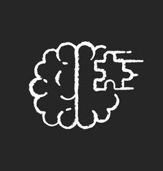 Psychiatric ward chalk white icon on black vector