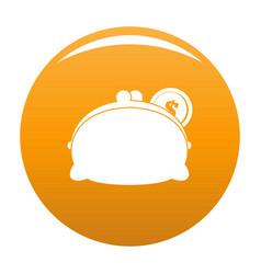 purse woman icon orange vector image