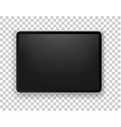 Realistic modern tablet layered mock-up isolated vector