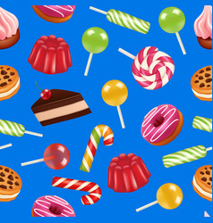 realistic sweet candy pattern or background vector image
