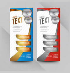 red and blue wavy banners vector image