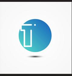 round symbol number 1 design minimalist vector image