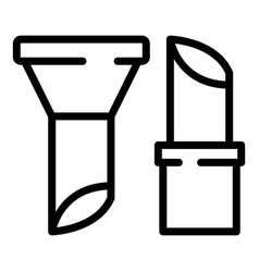 Rowater pipe icon outline style vector