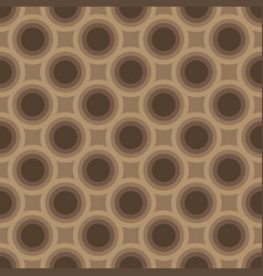 seamless abstract circle art geometric brown vector image