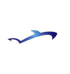shark silhouette logo fish gradient logotype vector image