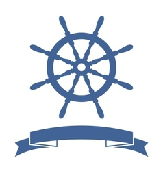Ship Wheel Banner vector