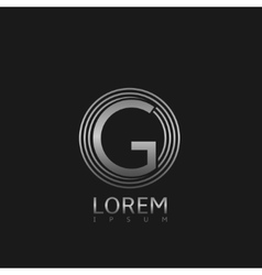 Silver G letter logo vector