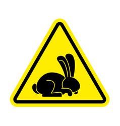 Stop rabbit it is forbidden to prohibit bunny vector