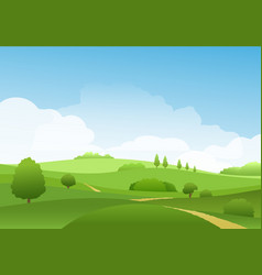 Summer landscape with hills vector