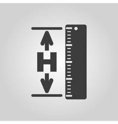 The height icon Altitude elevation level hgt vector image