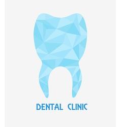 Tooth polygon logo vector
