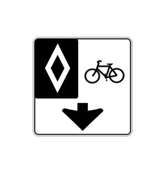usa traffic road signsthis lane for bicycle only vector image