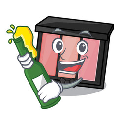 With beer eye shadow above character dressing vector