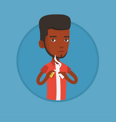 Young man quitting smoking vector